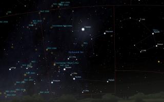 «Большой Пес» на ночном небе
