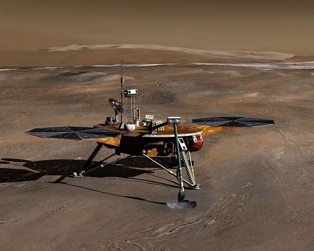 Посадочный модуль Феникс на Марсе