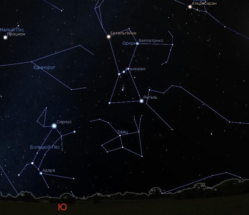 Созвездие Большой и Пес и Сириус